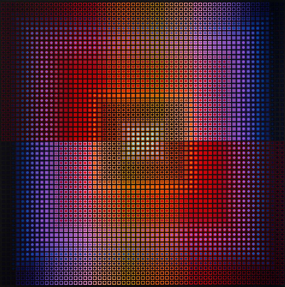 Pawel Wasowski, Confluence XXVI, 2021, acrylic on canvas, 120x120 cm